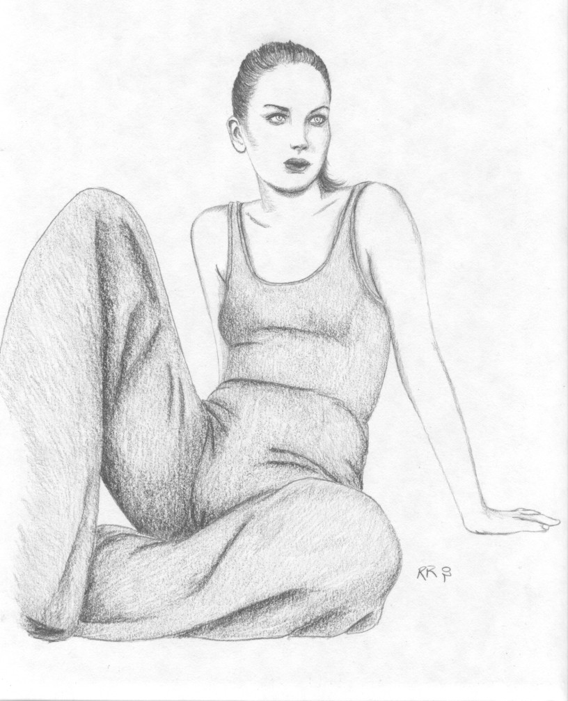 Girl sitting floor